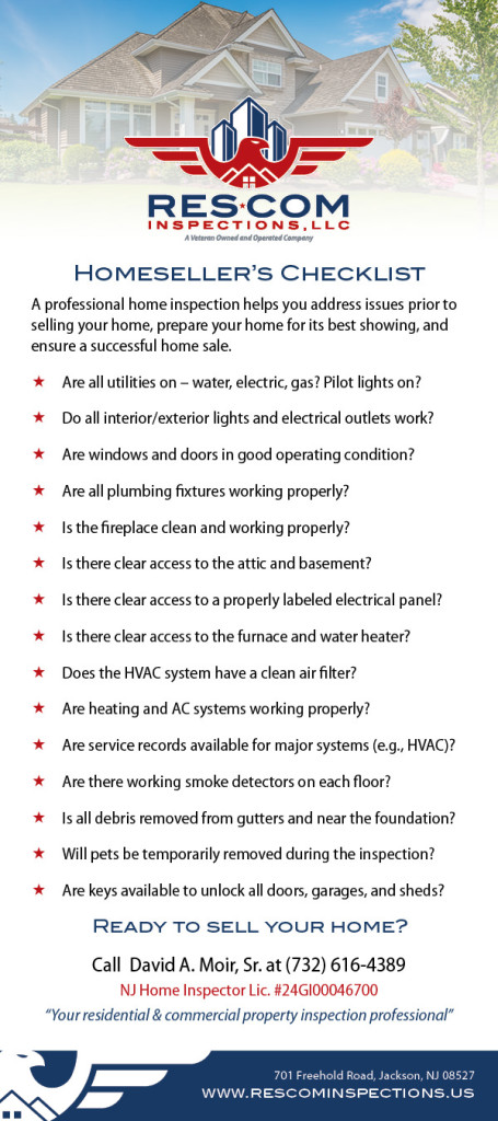 ResCom Inspections LLC - Homesellers Checklist